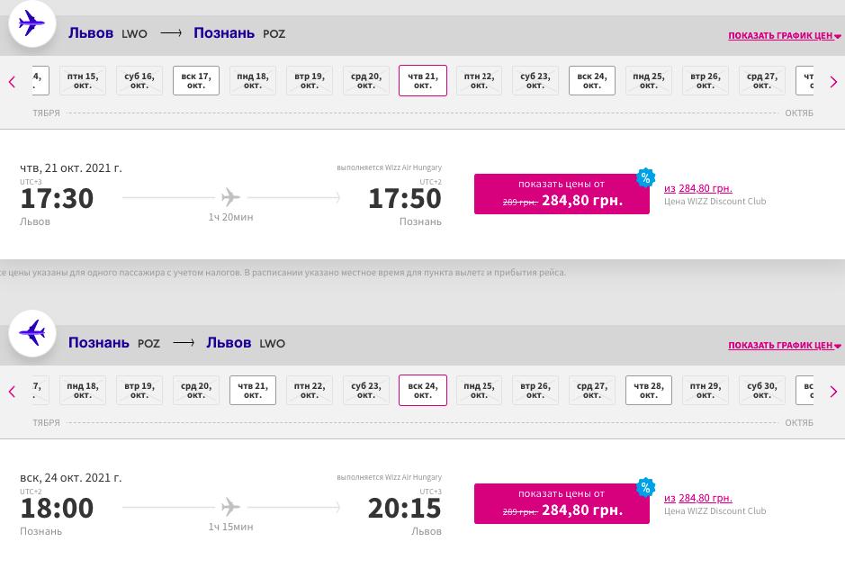 Wizz Air: скидка 30% на некоторые рейсы!